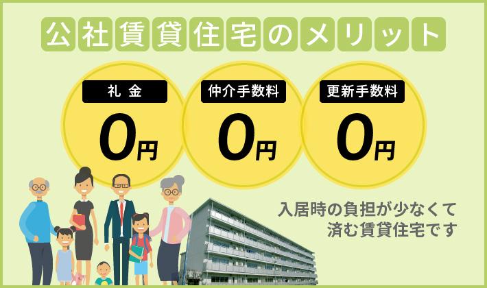 公社賃貸住宅のメリット